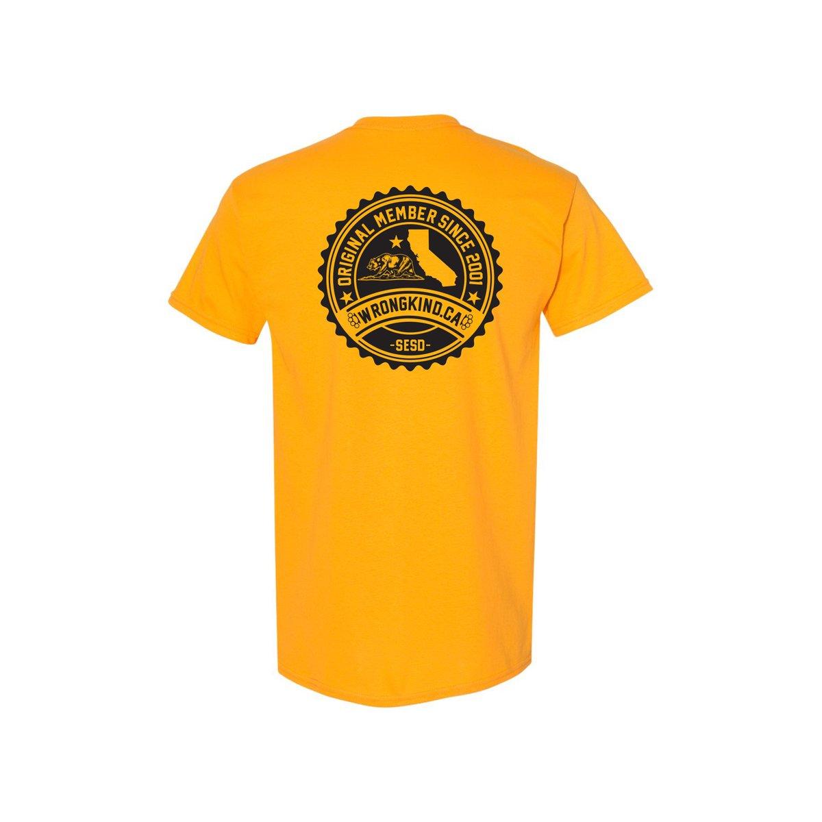 Image of Wrongkind Stamp T-Shirt (Gold w/ Black)
