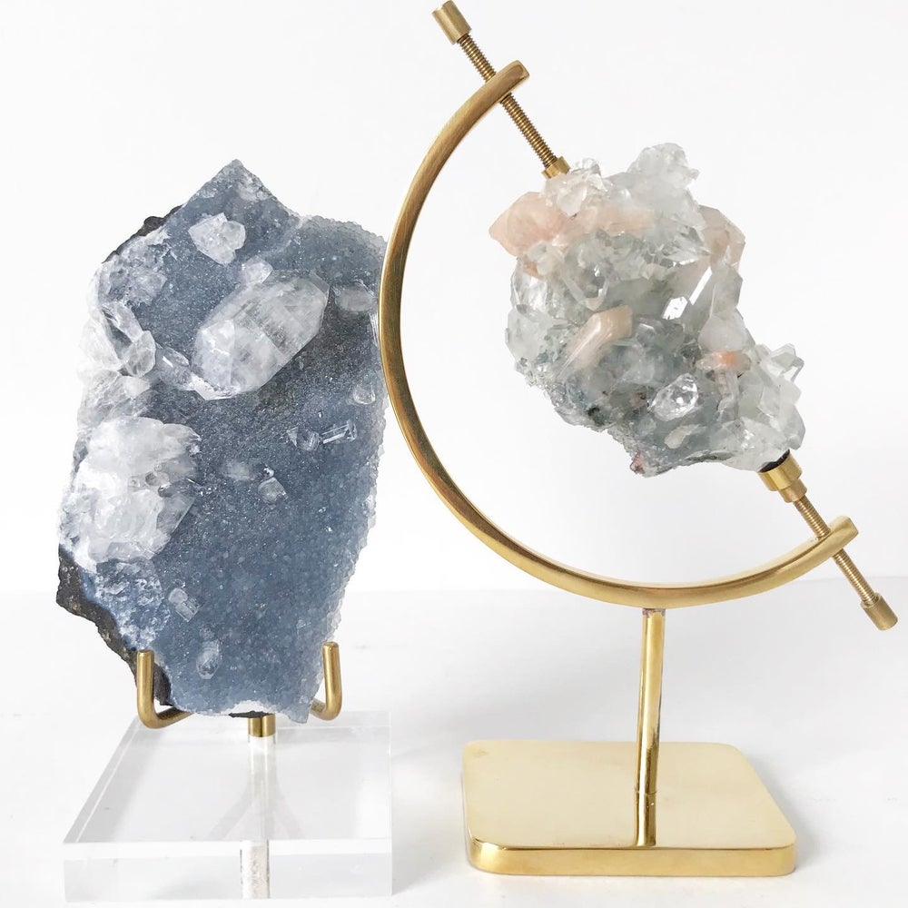 Image of Apophyllite no.45 + Brass Arc Stand