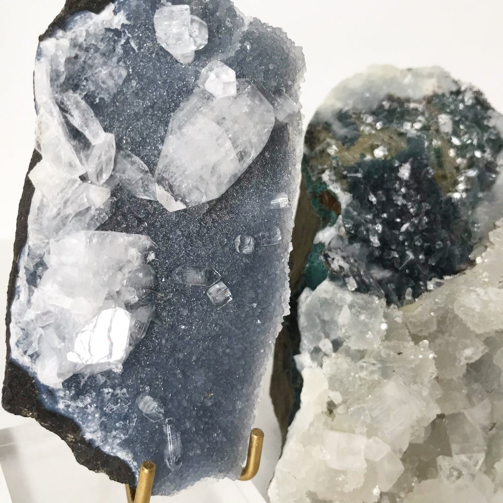 Image of Apophyllite no.50 + Lucite and Brass Stand