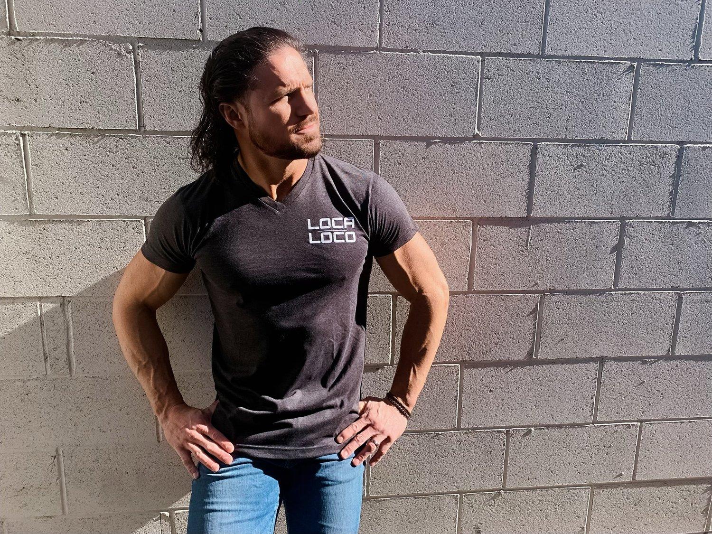 Image of Dark Grey Classic V-Neck T-Shirt