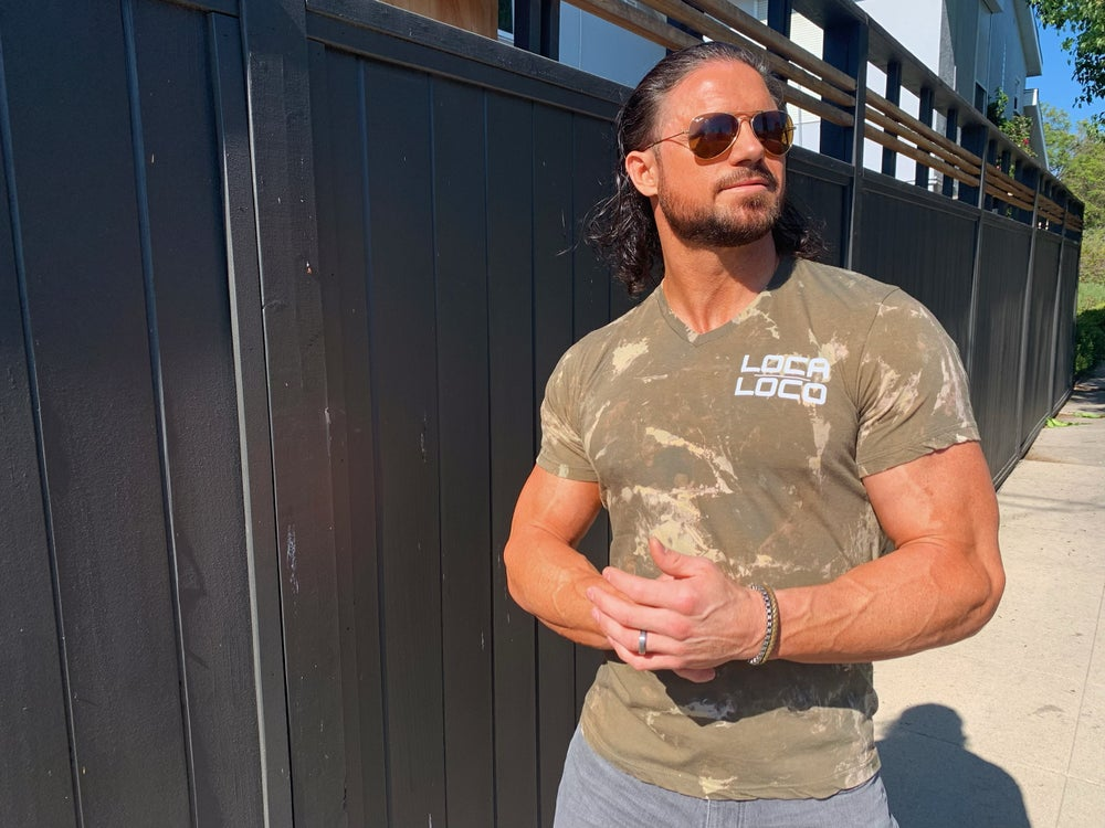 Image of Olive Camo Classic V-Neck T-Shirt