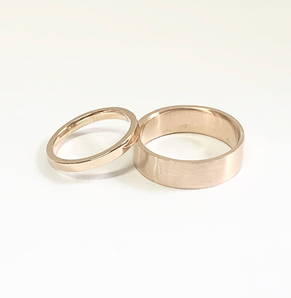 Image of Make your partners Wedding Ring - 18ct Gold