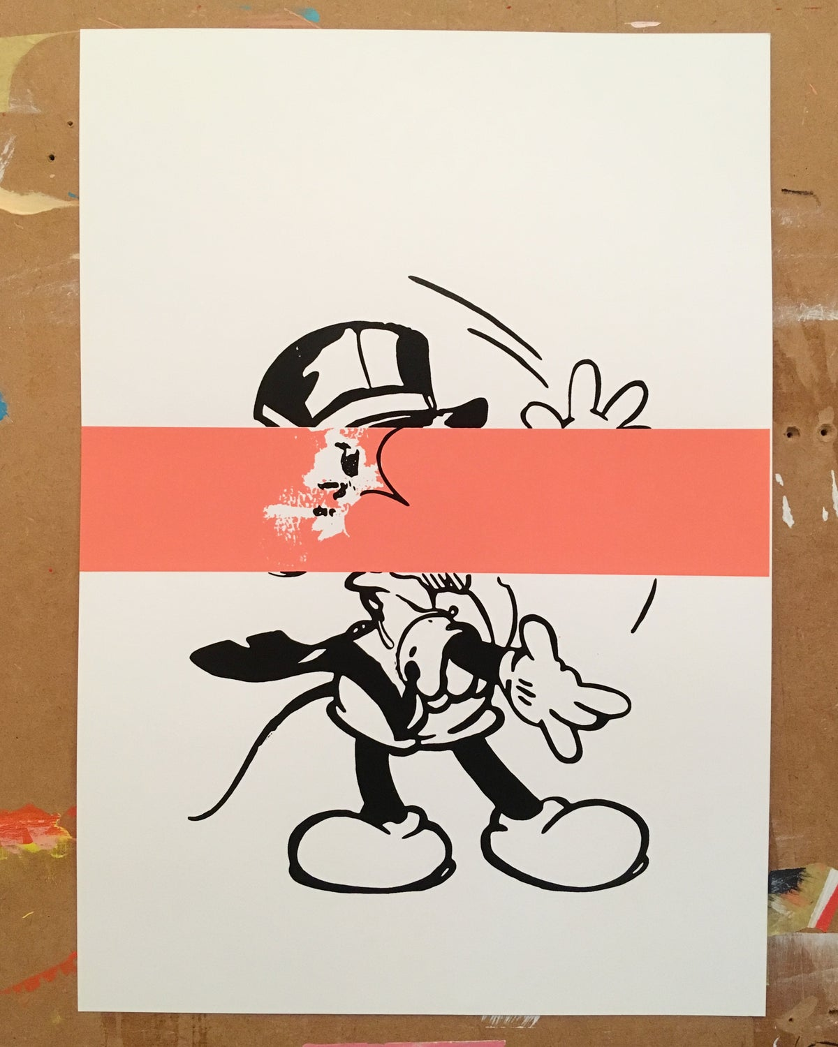 Image of Mickey (Pink Stripe) and Minnie (Pink Stripe)