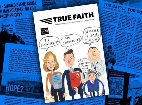 Image of TRUE FAITH ISSUE 149 GLOSSY PAPERBACK NEWCASTLE UNITED FANZINE