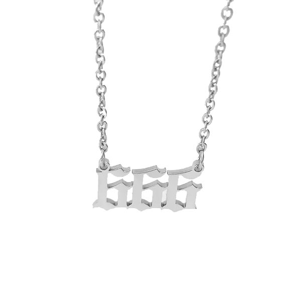 Image of Number of the Beast 666 Stainless Steel Necklace