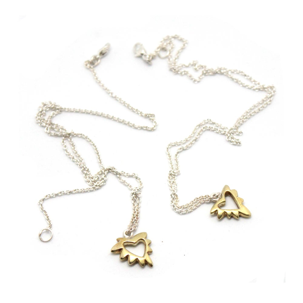 Image of PUFFY HEART NECKLACES