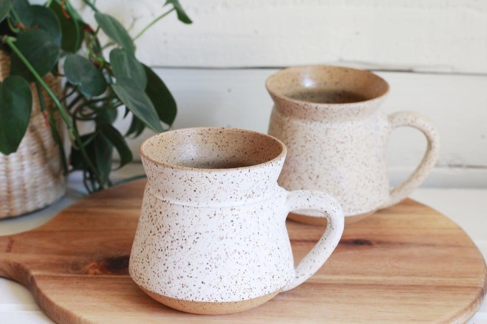 Image of White Speckled Modern Mug