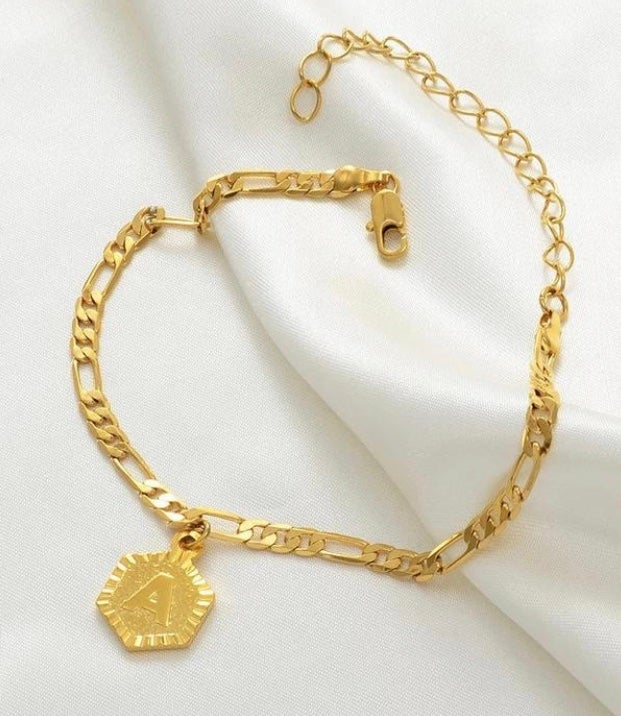 Image of Initial Charm Anklet