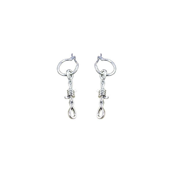 Image of No Trespassing Barbed Wire Drop Earrings