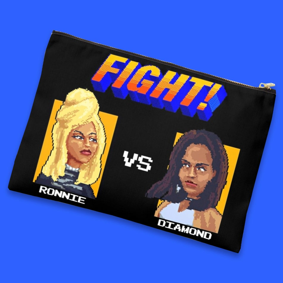Image of Girl Fight (Canvas Clutch)