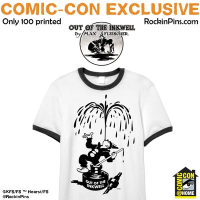 Image of Koko the Clown - Out of the Inkwell Ringer T Shirt