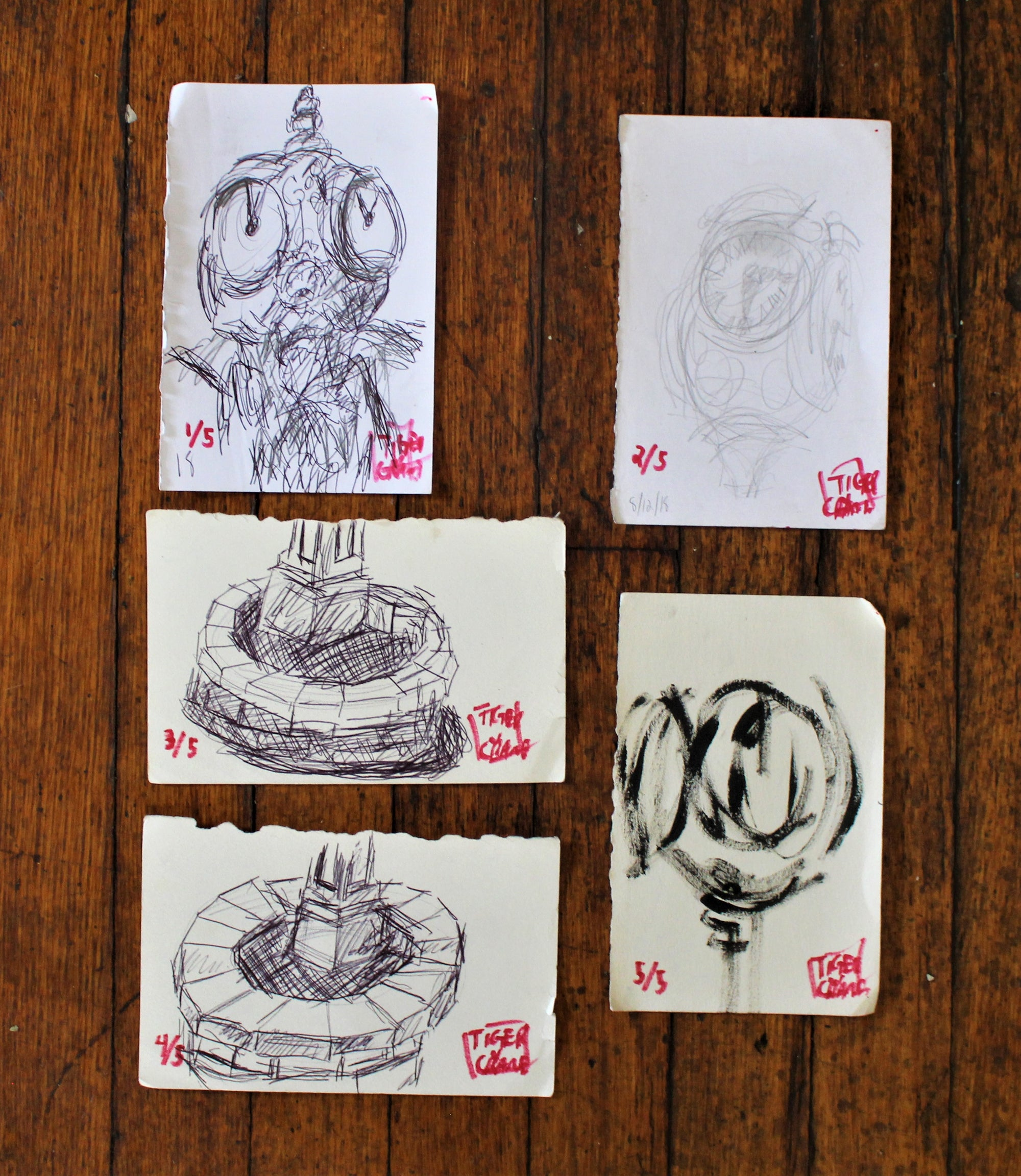 Image of 'Drawing Pack' 4x6 (each)