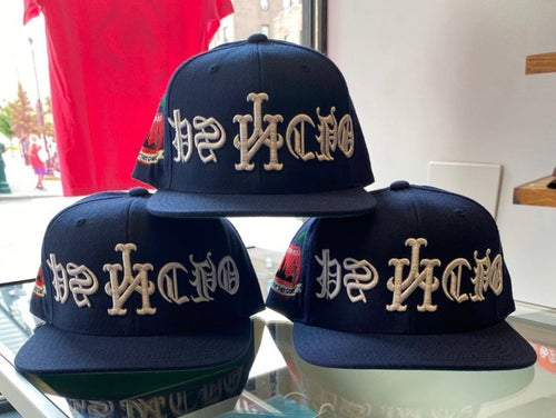 Image of Navy Upside Down Psycho SnapBack