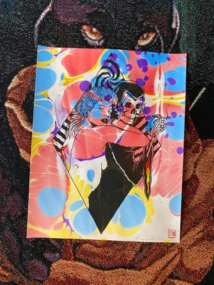 Image of 'Saturdazed' marbled print