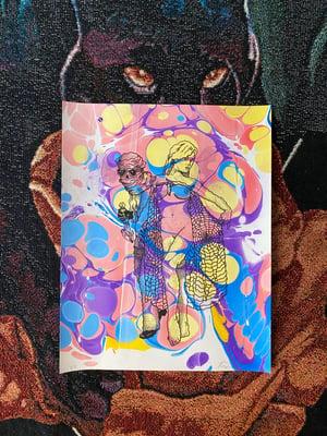 Image of 'Web mystics' marbled print