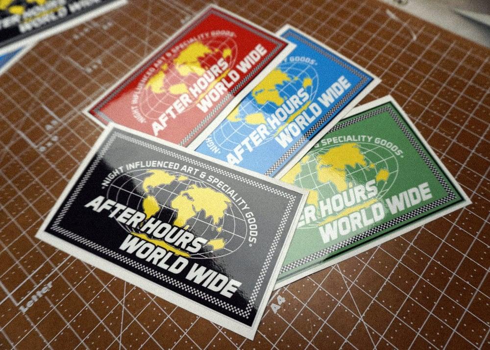 Image of After Hours World Wide - V2 - Sticker