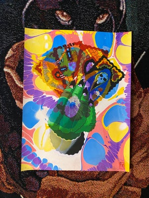 Image of 'Hand of Fate' marbled print