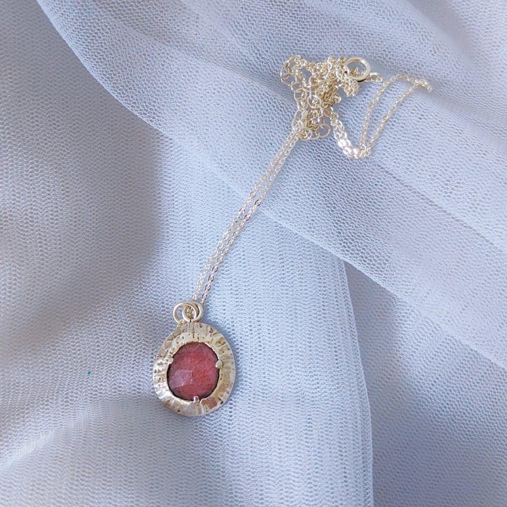 Image of Strawberry Quartz Pendant #4