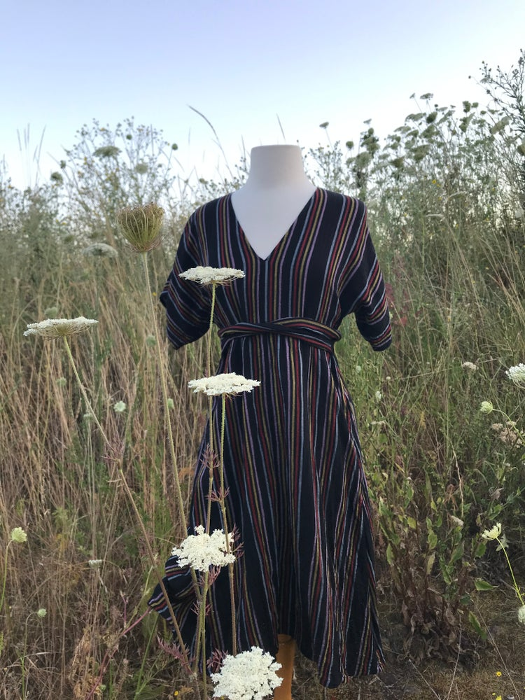 Image of Cotton Stripe Gauze Dress