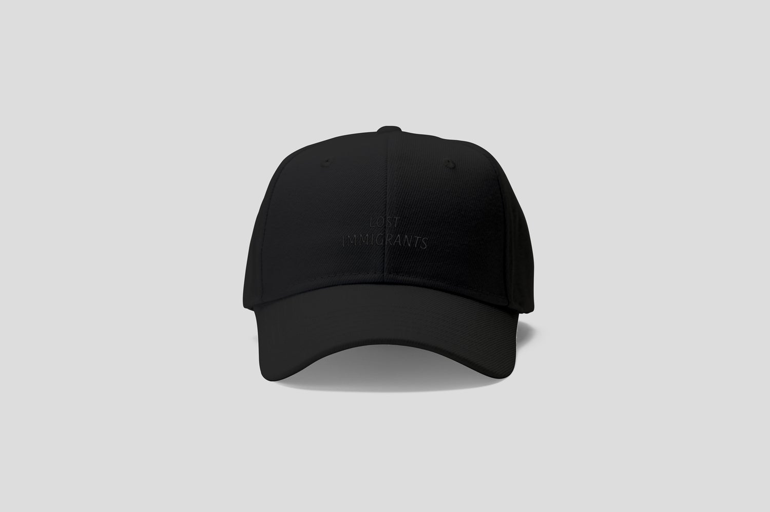 Image of Black Embroidered Cap