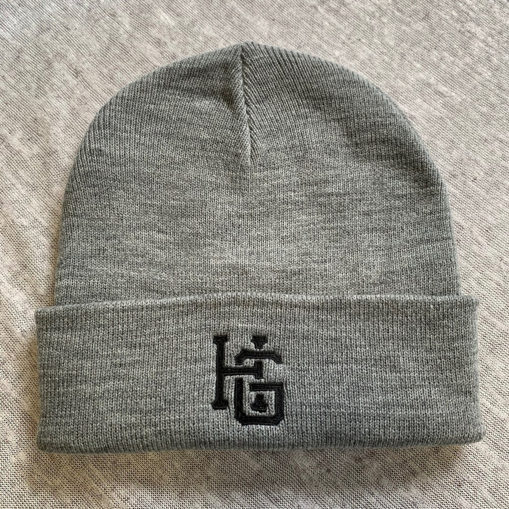 Image of HG Monogram Beanie Grey Marle