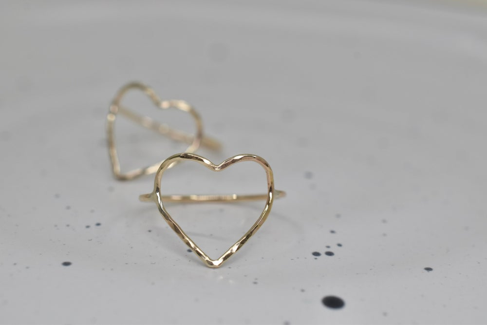 Image of 14k Gold Filled Heart Ring