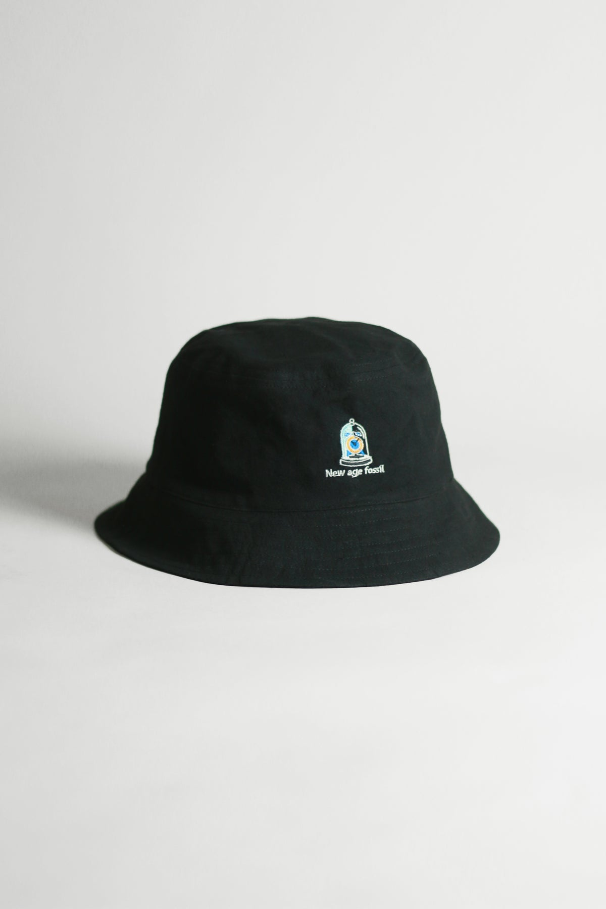 """Graphic Embroidery Tee - """"New Age Fossil"""" Bucket Hat"""