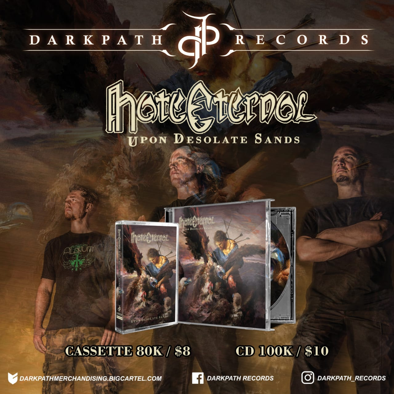 Image of HATE ETERNAL - Upon Desolate Sands CDs & Tapes
