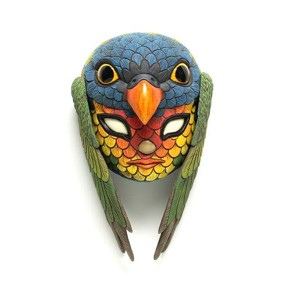 Image of Blend In Mini Mask (Rainbow Lorikeet)