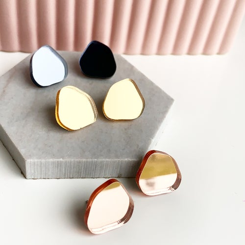 Image of Puddle Mirrored Studs