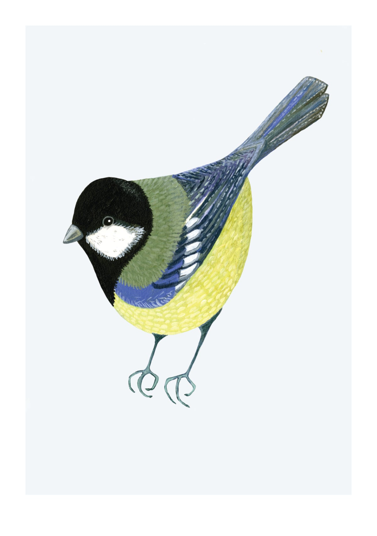 The Garden Birds - Set of 3 Pastel Prints - Greens/Blues