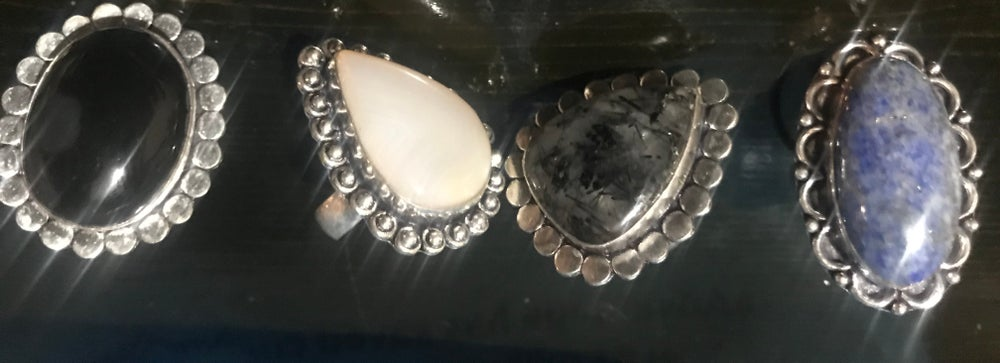 Image of Adjustable Crystal Ring assorted sizes