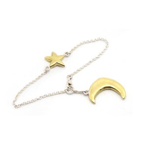 Image of PUFFY MOON AND STAR BRACELET