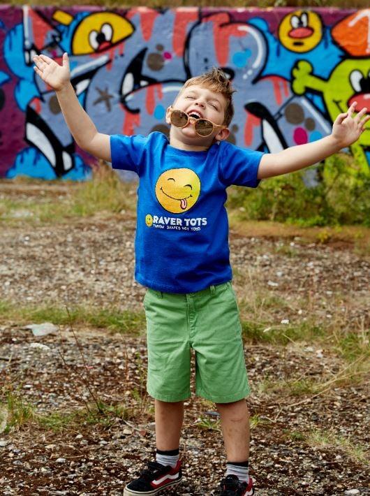 Raver Tots Blue Heart T-Shirt