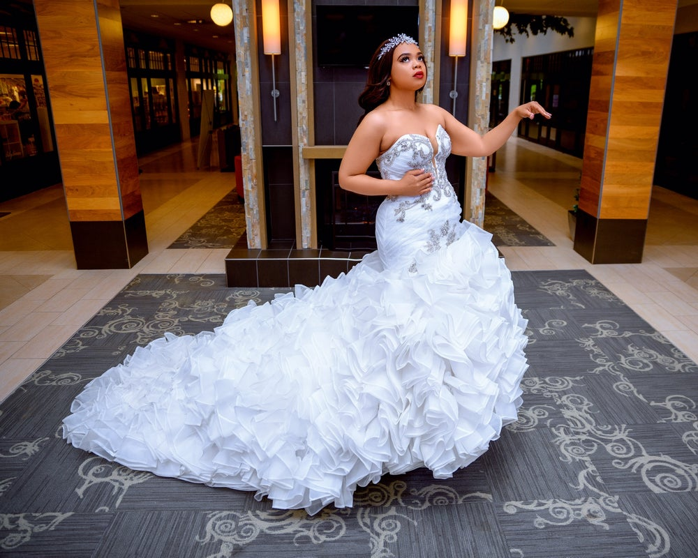 Image of Sade Denise Mermaid Ruffles Wedding Dress