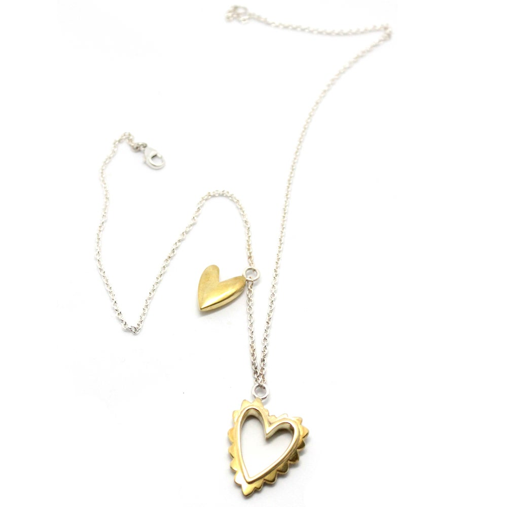 Image of CHUBBY HEARTS NECKLACE