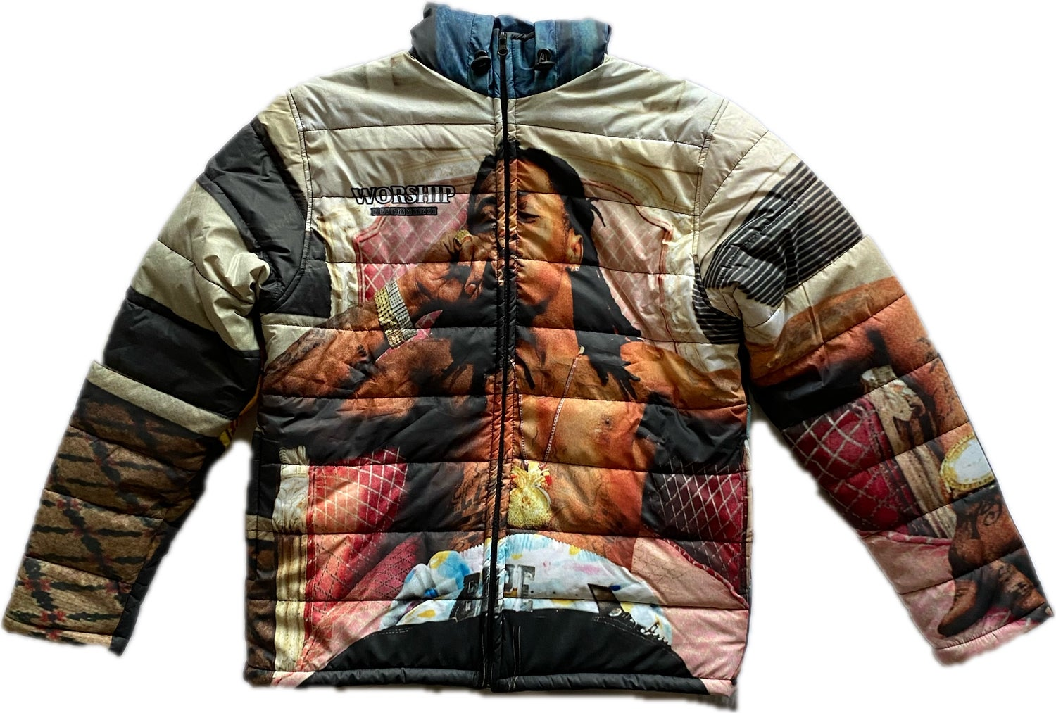 """Image of """"Worship Me While I'm Here""""  Tune Puffer Jacket (WX95 Sudios)"""