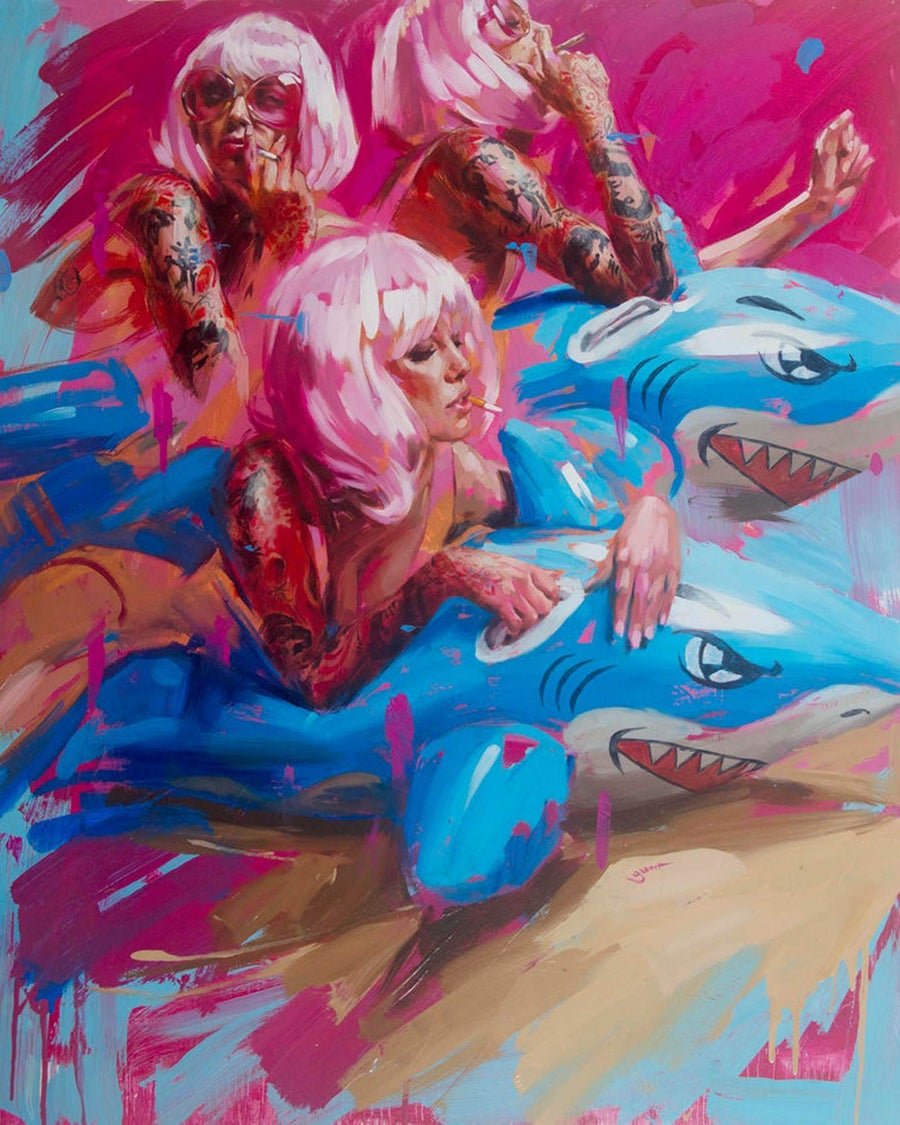 Image of '2x SHARK!' Limited Edition Print