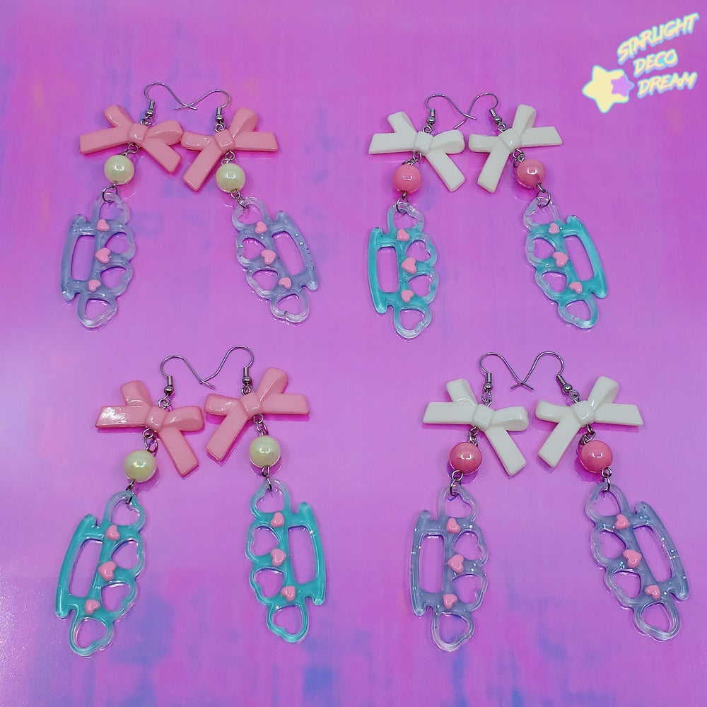 Image of Sweet Fighter Candy Knuckles Earrings / Choose A Pair