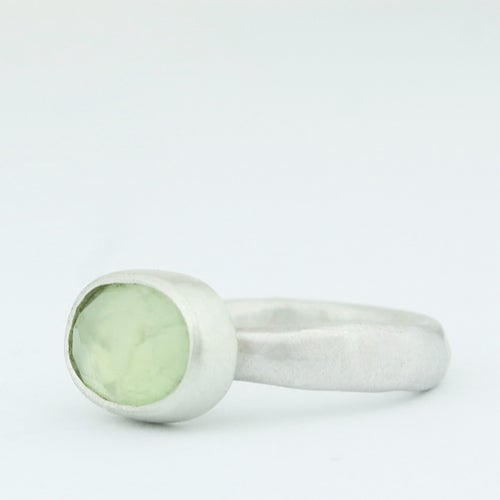 Image of Oval prehnite ring