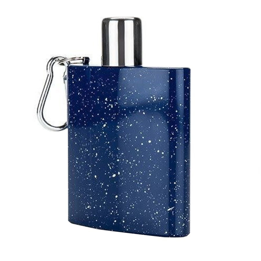 Image of Blue Enamel Carabiner Flask