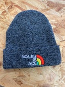 Image of WALES IS ACE  Heritage Beanie Hat Antique Grey