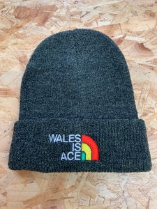 Image of WALES IS ACE   Heritage Beanie Hat Antique Moss Green