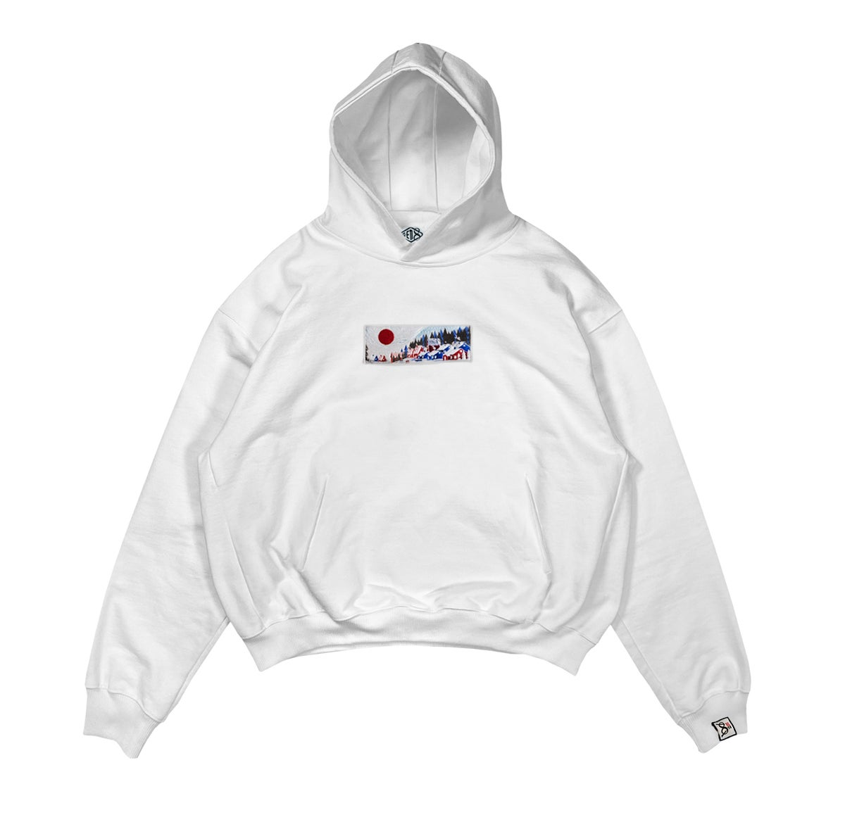 Image of White 'Neve' Hoodie