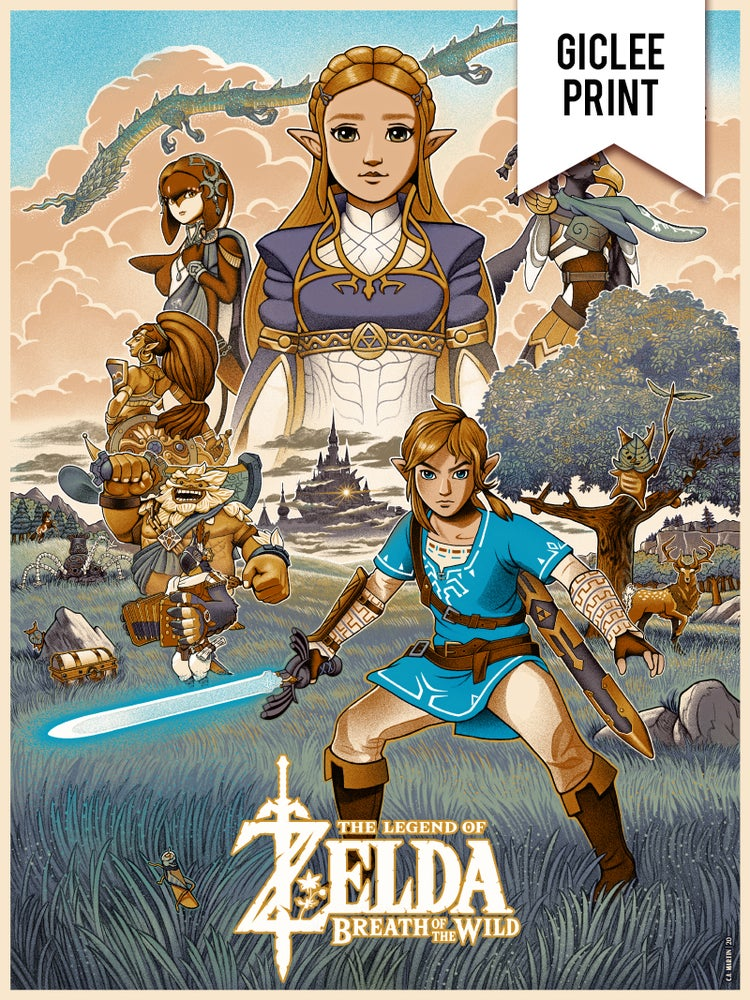 Image of MEMORIES OF HYRULE - GICLÉE - SPECIAL EDITION - 18x24