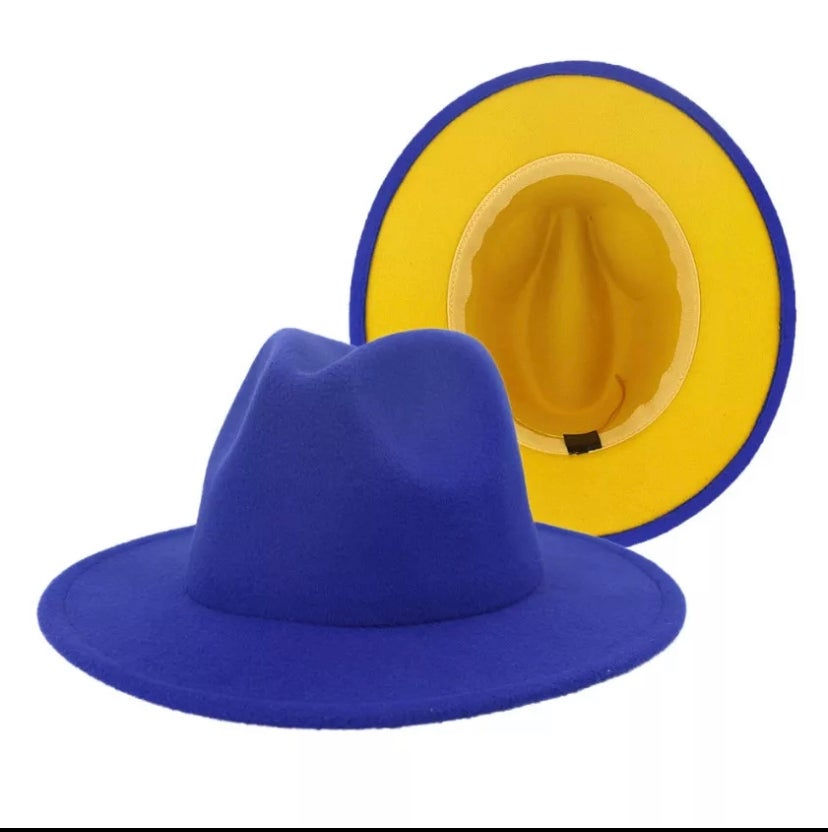 Image of Royal blue/ Mustard bottom