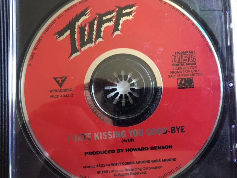 """Image of TUFF """"I Hate Kissing You Goodbye"""" Rare Promo CD Single signed by Stevie Rachelle"""
