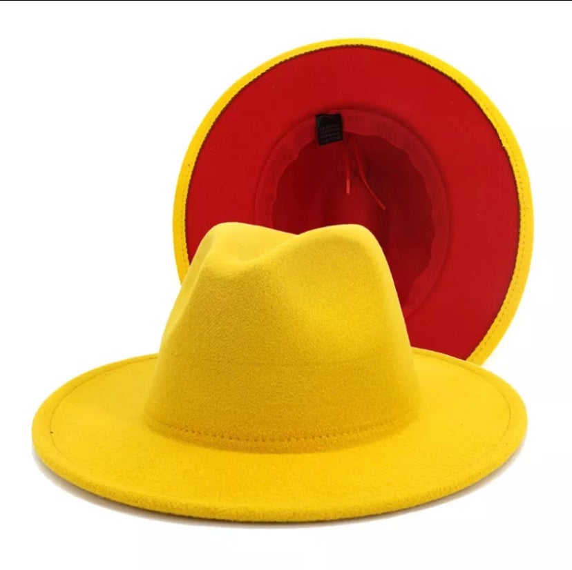 Image of Mustard/ Red Bottom Fedora