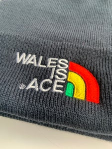 Image of WALES IS ACE  Heritage Beanie Hat Navy