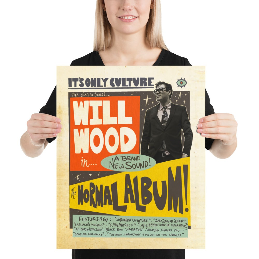 "Normal Album Retro Flyer Poster (Starts at 8x10"")"